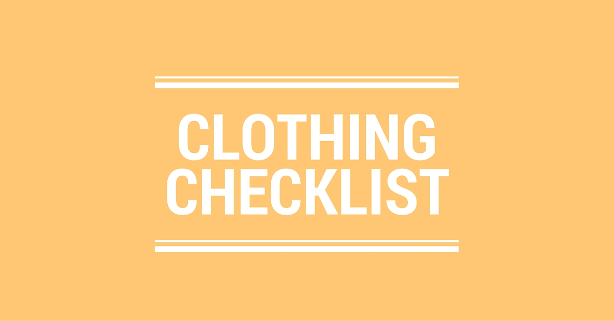 Clothing Checklist Logo