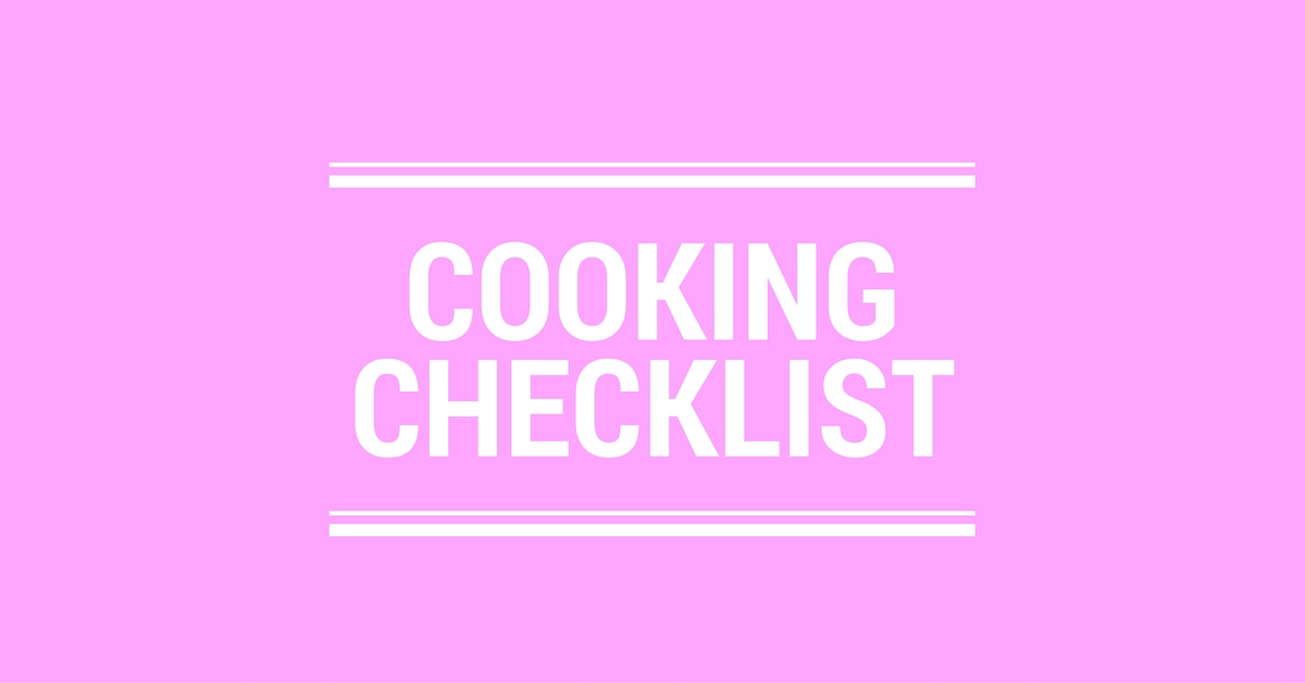 Cooking Checklist Logo