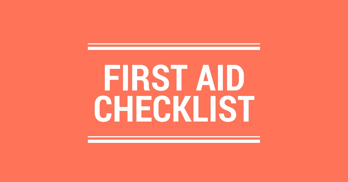 First Aid Checklist Logo