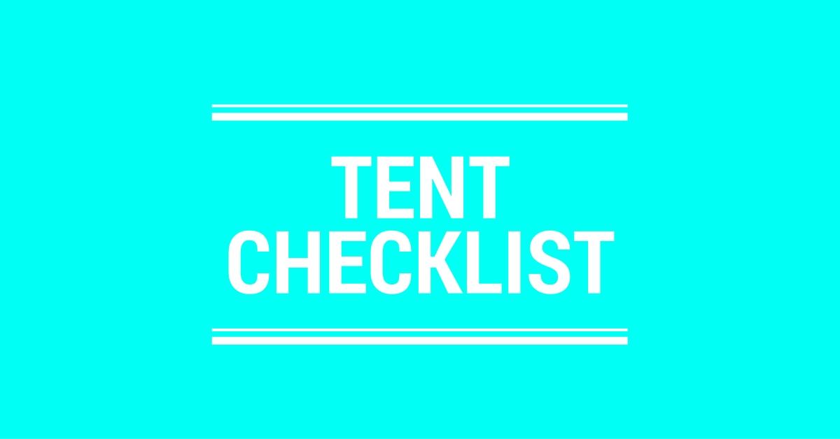 Tent Camping Checklist Logo