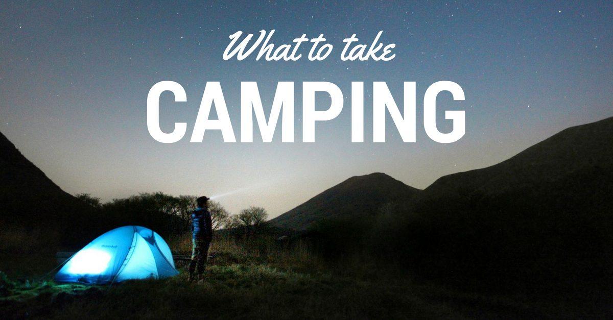 What to take camping image